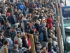 Venezia, 28 gennaio 2018 - festaveneziana in rio di cannaregio - l'arrivo del corteo di barche e maschere con la pantegana e il suo scoppio con il volo dei palloncini (c)Vision/vela